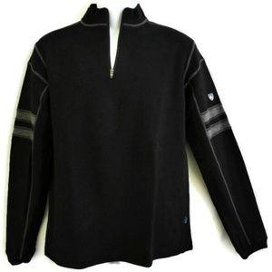 Kuhl Sweater Merino Wool Team Black Zip Thumb L